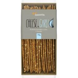 Danvita Křehký chléb sýr, česnek pšeničné krekry 130g