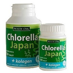 Chlorella Japan s kolagenem 200mg (250 tablet)