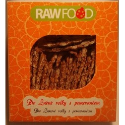 Lněné rolky s pomerančem BIO 100g RAWFOOD