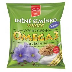 Lněné semínko mleté Natural 100g Semix