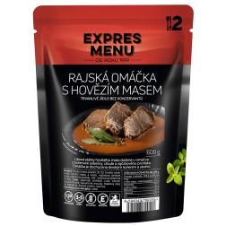 Expres menu Rajská omáčka s hovězím masem  600g