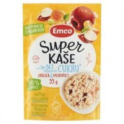 Super kaše bez cukru jablka meruňky 55g Emco