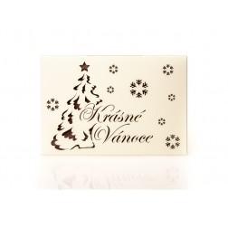 """Čokoláda """"Krásné Vánoce"""" MLÉČNÁ tabulka 45 g"""