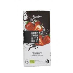 Čokoláda Meybona BIO s jahodovými plátky a pepřem 100g