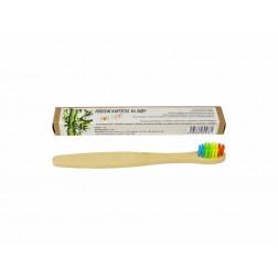 Zubní kartáček přírodní DĚTSKÝ barevný 1ks