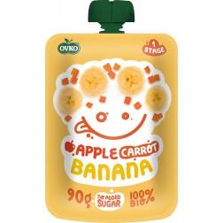 Dětská výživa Kapsička Bio jablko+karotka+ banán 90g