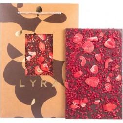 Čokoláda LYRA A4 Dark premium s ovocným posypem posyp 300g