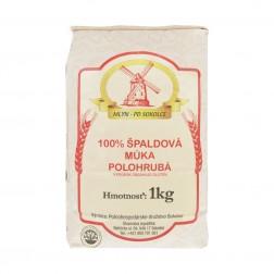 Mouka špaldová bílá polohrubá 1 kg PD Sokolce