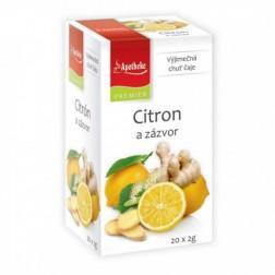 Čaj Apotheke Citron a zázvor 20x2g