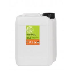 Prací gel z mýdlových ořechů s rostlinnou silicí POMERANČ 5L