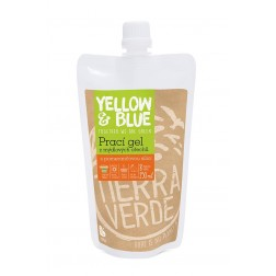 Prací gel z mýdlových ořechů s rostlinnou silicí POMERANČ 250ml Yellow+Blue